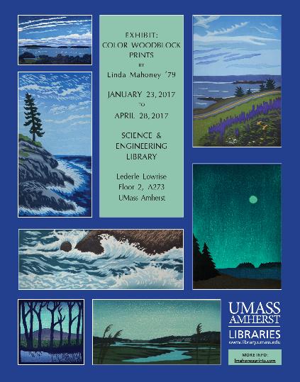 Poster for Linda Mahoney exhibit