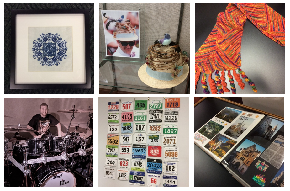 Photographs of the array of items submitted by library staff